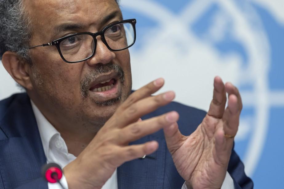 Selon le directeur général de l'OMS, Tedros Adhanom... (PHOTO MARTIAL TREZZINI, AP)