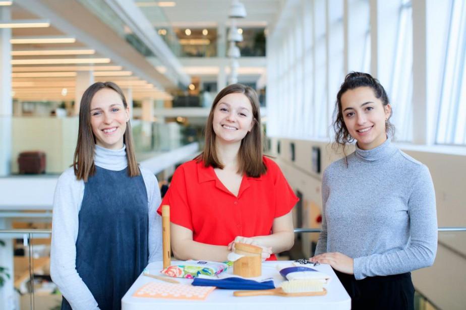 Marie Larochelle, Jasmine Laforce et Virginie Tougas ont... (PHOTO EDOUARD PLANTE-FRÉCHETTE, LA PRESSE)
