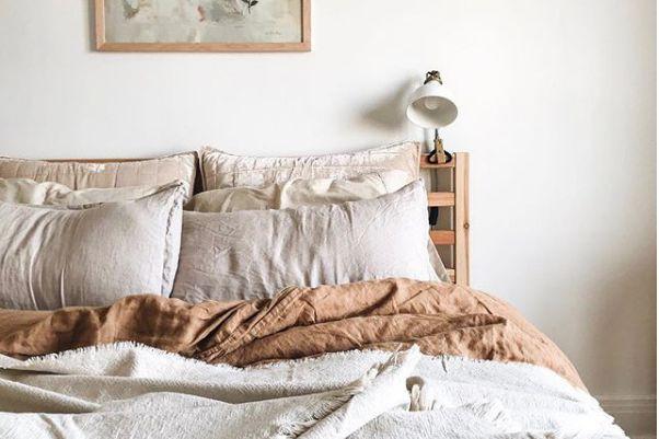 Le lin fait d'excellents draps, selon Sarah Babineau,... (PHOTO INSTAGRAM)