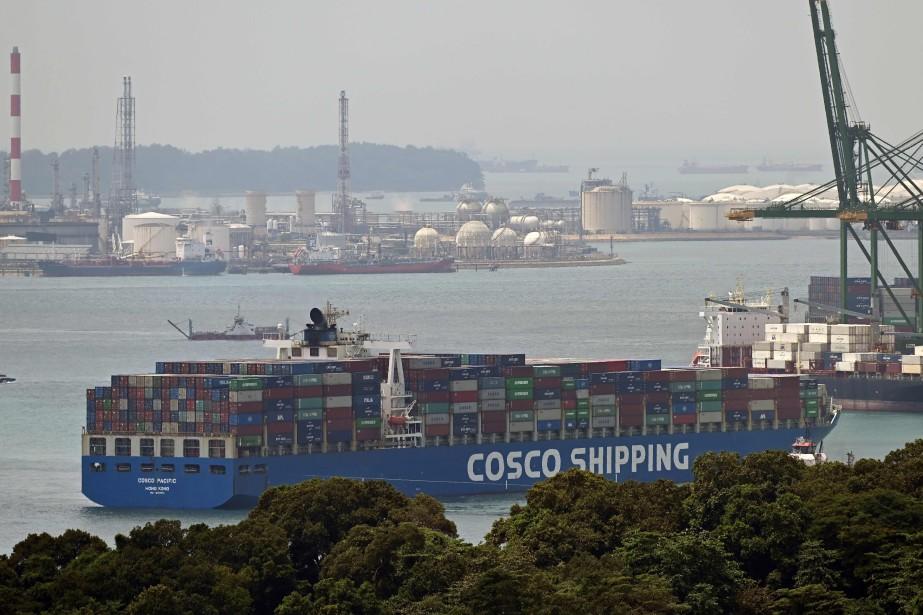 Le transport maritime représente 80% du commerce mondial... (PHOTO ROSLAN RAHMAN, AGENCE FRANCE-PRESSE)