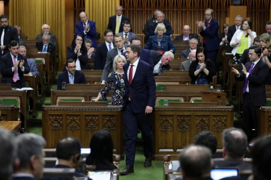 Les conservateurs et leur chef, Andrew Scheer, ont... (PHOTO CHRIS WATTIE, REUTERS)