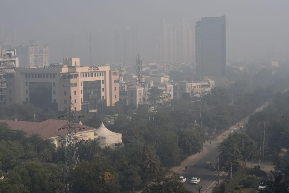 En 2017, la pollution de l'air a causé... (PHOTO MONEY SHARMA, ARCHIVES AFP)