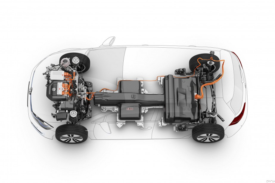 L'eGolf 2019 a une batterie de 35,8 kWh....