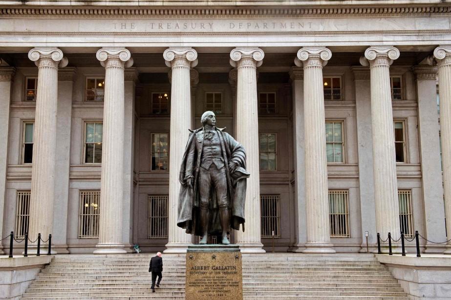 L'édifice du département du Trésor des États-Unis, situé... (PHOTO AFP)