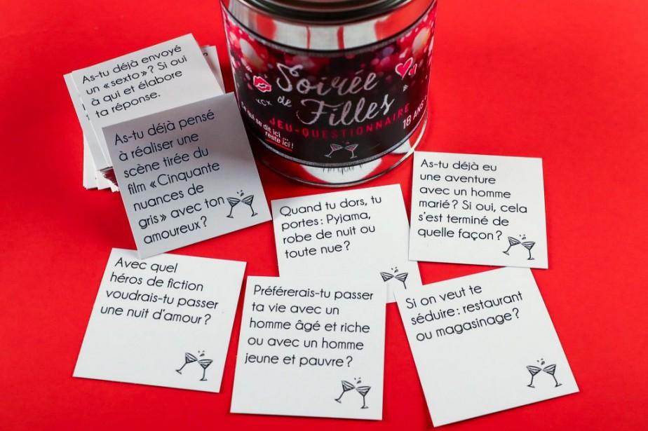 Le jeu-questionnaire Soirée de filles... (PHOTO HUGO-SÉBASTIEN AUBERT, LA PRESSE)