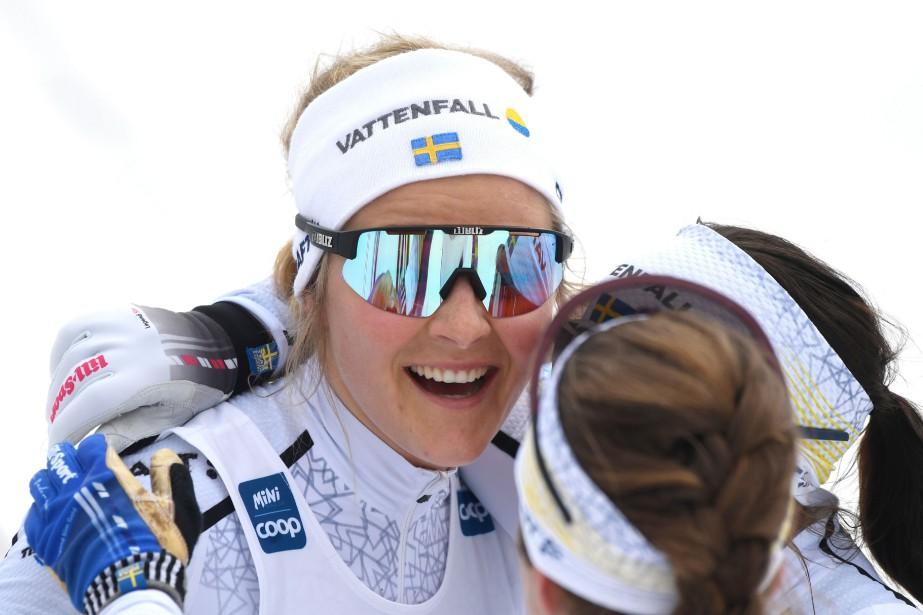 Stina Nilsson a remporté sa deuxième course disputée... (PHOTO BERNARD BRAULT, LA PRESSE)