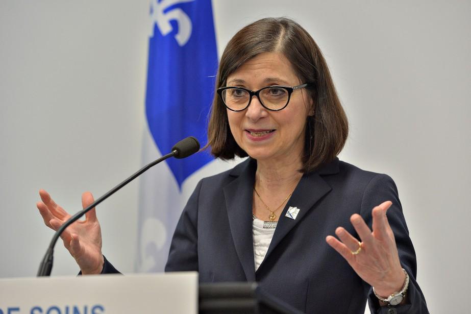 La ministre québécoise de la Santé, Danielle McCann... (PHOTO PATRICE LAROCHE, ARCHIVES LE SOLEIL)