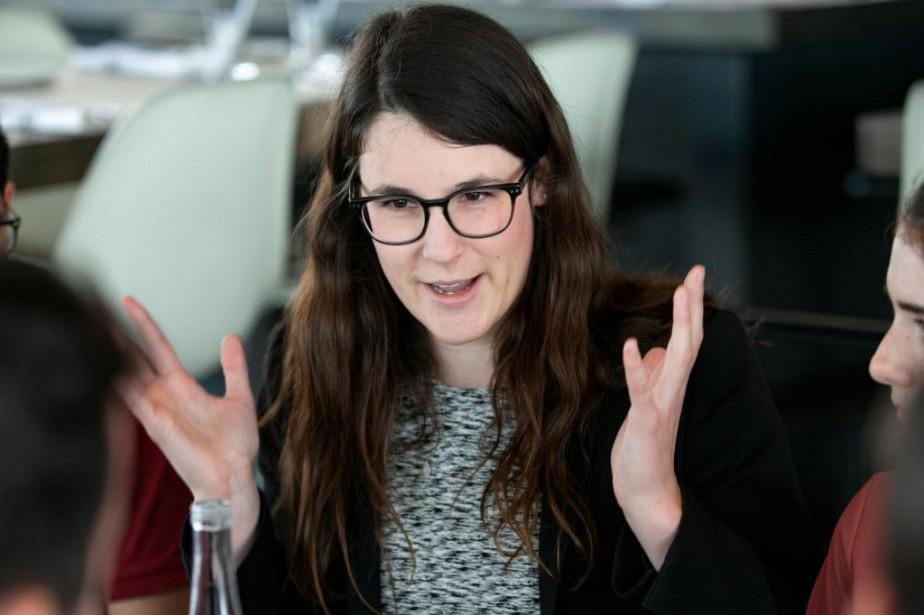 FrédériqueSt-Jean,présidente du Comité national des jeunesdu Parti québécois... (PHOTO DAVID BOILY, ARCHIVES LA PRESSE)