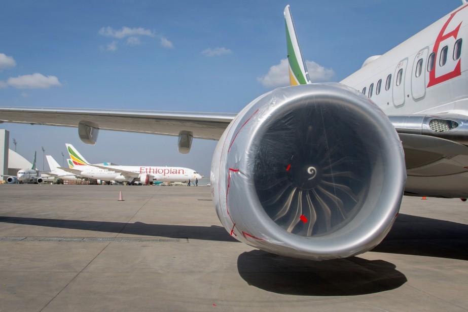 Un appareil 737 MAX 8 d'Ethiopian Airlines assurant... (PHOTO AP)