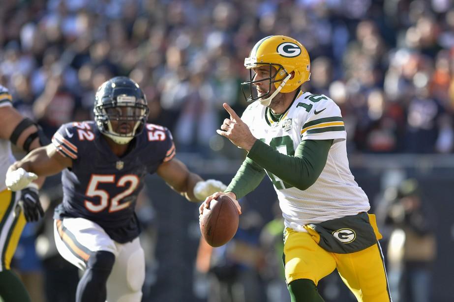 Le quart-arrière des Packers de Green Bay, Aaron... (PHOTO QUINN HARRIS, USA TODAY SPORTS)