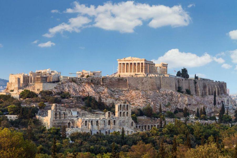 Le rocher sacré sur lequel s'élève le Parthénon... (PHOTO GETTY IMAGES)