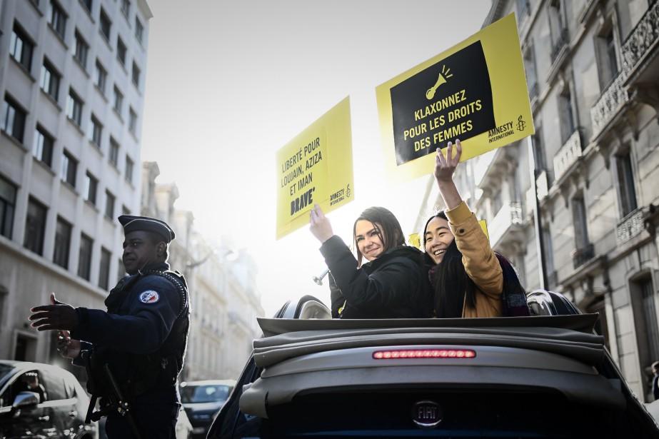 Une manifestation réclamant la libération des militantes saoudiennes... (PHOTO AFP)