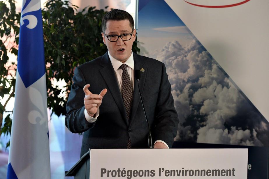 Le ministre de l'Environnement, Benoit Charette.... (PHOTO ERICK LABBÉ, ARCHIVES LE SOLEIL)