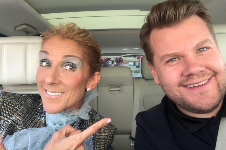 Céline Dion et James Corden dansCarpool Karaoke... (PHOTO TIRÉE D'INSTAGRAM)