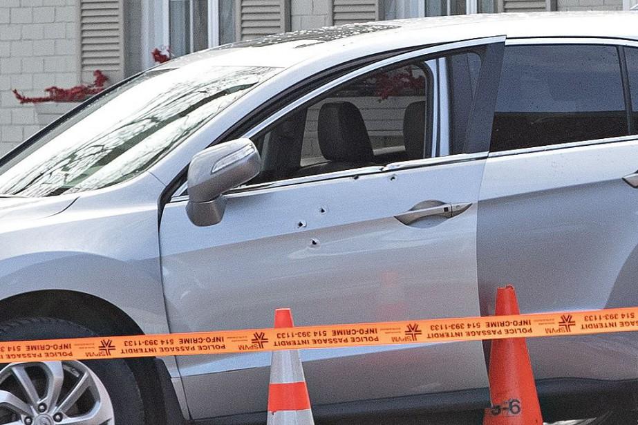 Mario Simeone a été assassiné vers 9h20 ce... (PHOTO PATRICK SANFAÇON, LA PRESSE)