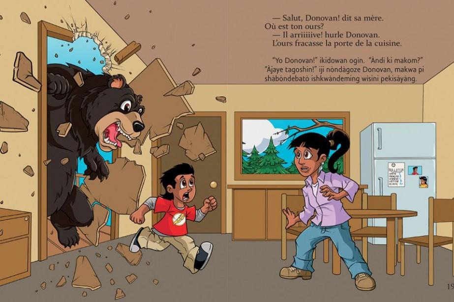 Extrait deUn ours pour déjeuner !, éditions Scholastic... (PHOTO FOURNIE PAR SCHOLASTIC)