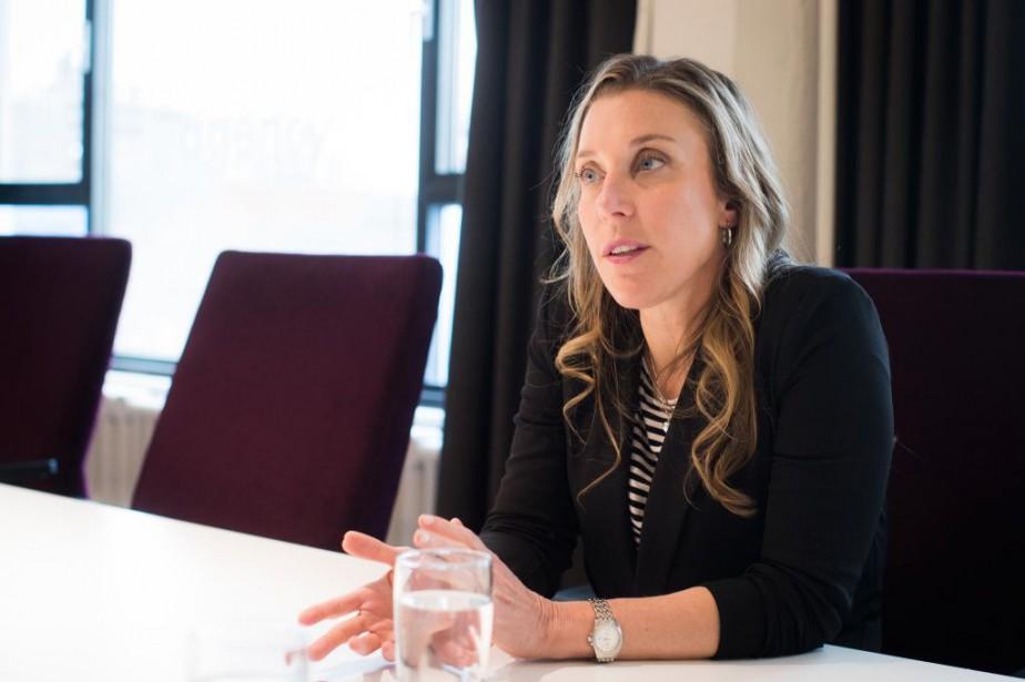 Karine Courtemanche, présidente de Touché!... (PHOTO OLIVIER PONTBRIAND, LA PRESSE)
