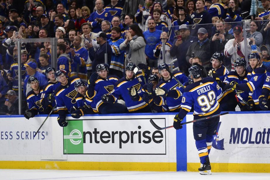 Le 2 janvier, les Blues de St. Louis... (PHOTO JEFF CURRY, USA TODAY SPORTS)