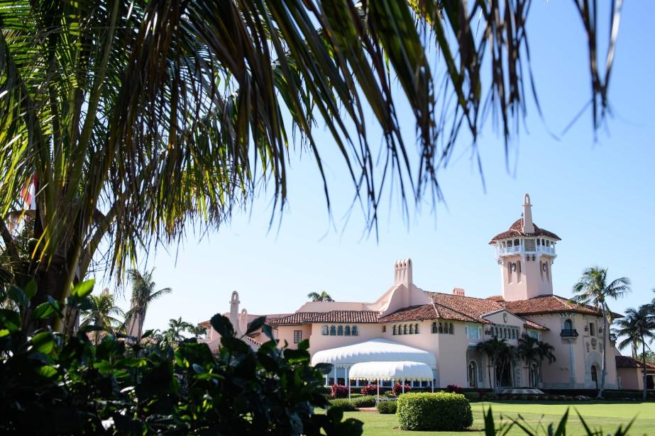 Mar-a-Lago, la résidence du président en Floride.... (PHOTO MANDEL NGAN, ARCHIVES AFP)