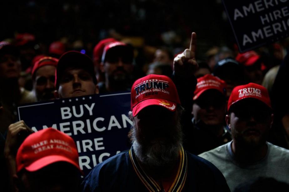 Rassemblement partisan de DonaldTrump àGrand Rapids, au Michigan,... (ARCHIVES THE NEW YORK TIMES)