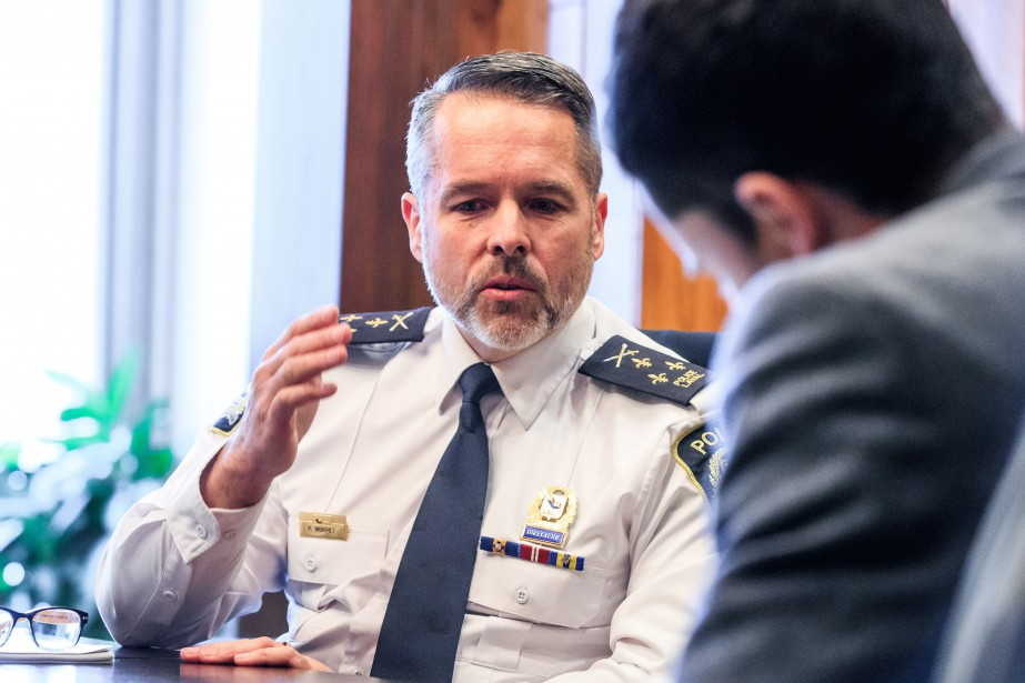 Le chef de police de Laval, Pierre Brochet,... (PHOTO HUGO-SEBASTIEN AUBERT, ARCHIVES LA PRESSE)