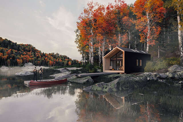 (Plusvisual – Le modèle, The Great Lakes Cabins)