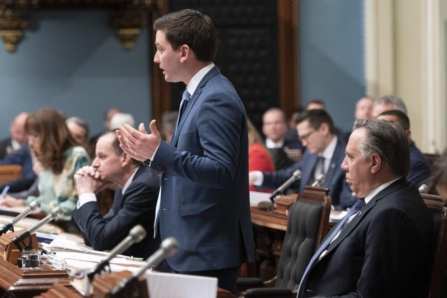 Le ministre québécois de l'Immigration, Simon Jolin-Barrette... (PHOTO JACQUES BOISSINOT, LA PRESSE CANADIENNE)