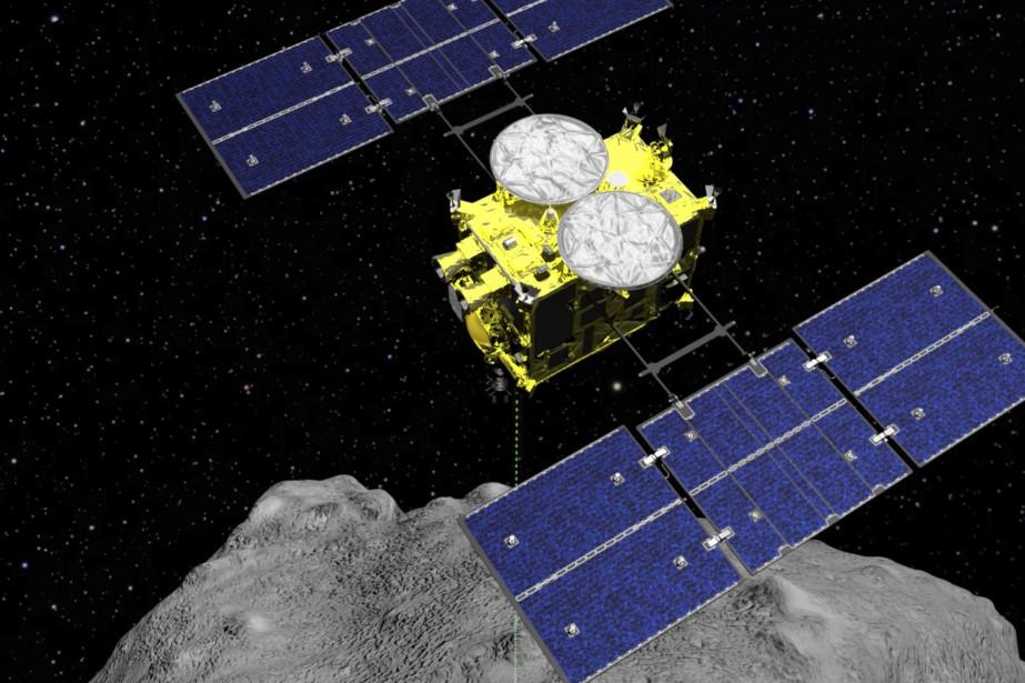 Selon l'Agence d'Exploration spatiale, Hayabusa2 était en état... (PHOTO ASSOCIATED PRESS)