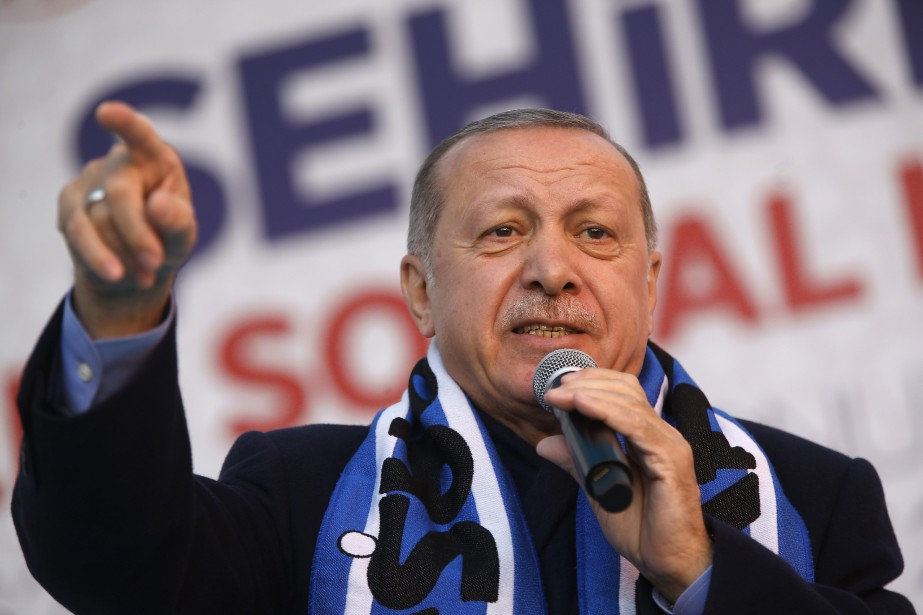 Le président turc Recep Tayyip Erdogan... (PHOTO LEFTERIS PITARAKIS, ARCHIVES ASSOCIATED PRESS)
