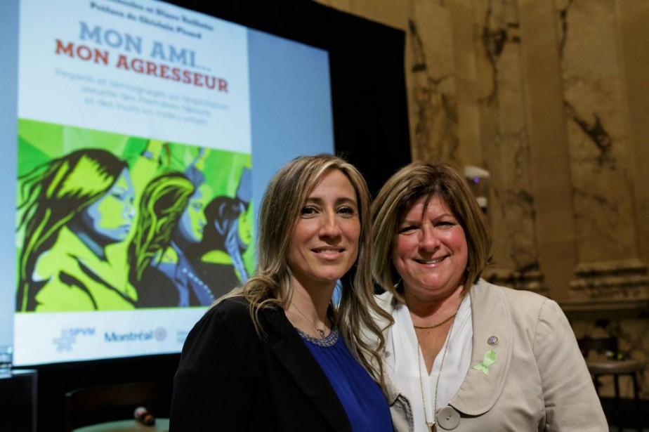Les policières Josée Mensales et Diane Veillette sont... (PHOTO OLIVIER JEAN, LA PRESSE)