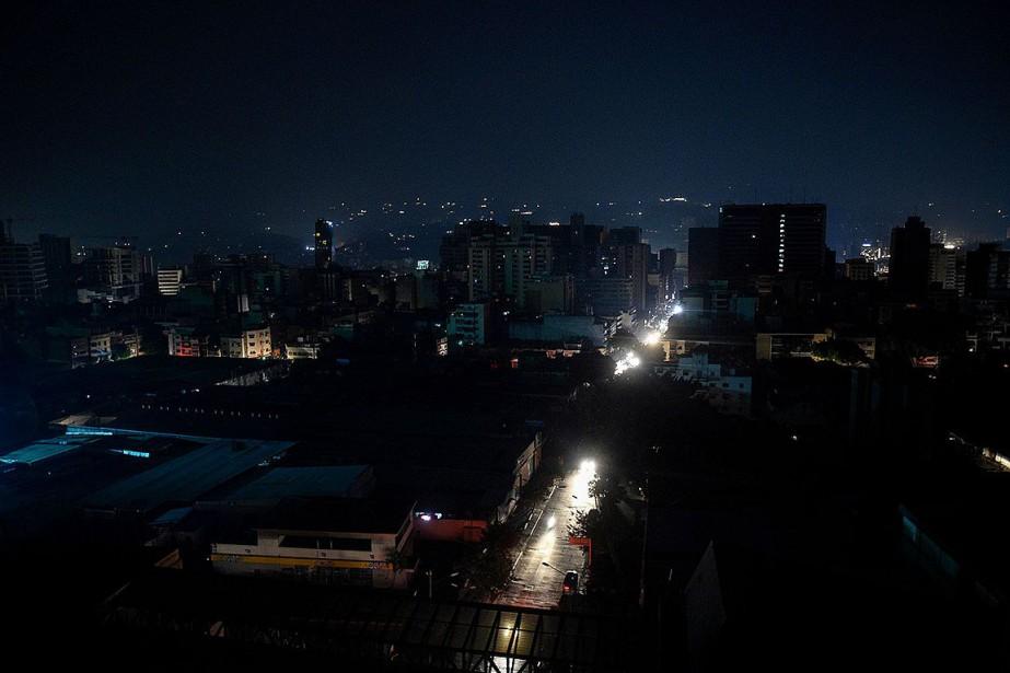 Vue sur le quartier de Chacao, à Caracas,... (PHOTO FEDERICO PARRA, AGENCE FRANCE-PRESSE)