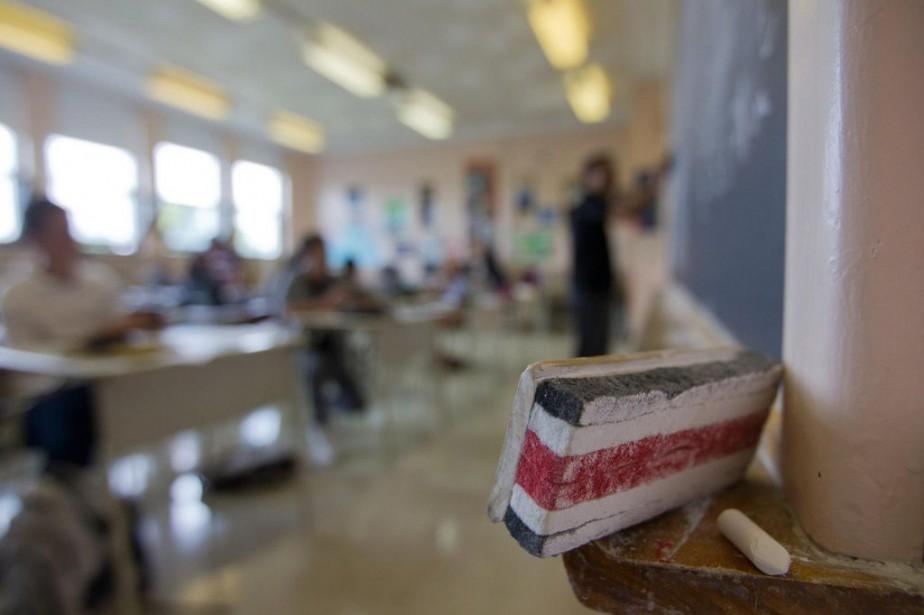 À l'école publique, environ un élève sur cinq... (PHOTOIVANOH DEMERS, LA PRESSE)