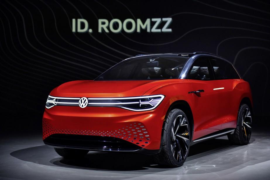 Le prototype Volkswagen ID. ROOMZZ a été montré en marge... | 2019-04-16 00:00:00.000