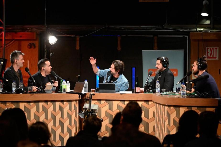 Olivier Niquet, Jean-Sébastien Girard, Jean-Philippe Wauthier, MC Gilles... (PHOTO BERNARD BRAULT, LA PRESSE)