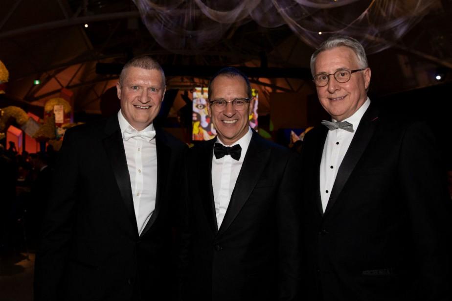 De gauche à droite: Paul Lepage, Richard Voyer... (Photo fournie par la Fondation)