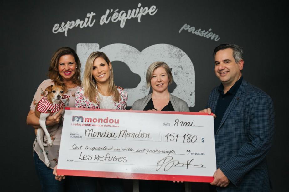 De gauche à droite,Cintia Hudon, Marie-Ève Pelletier,Anny Martin... (Photo fournie par Mondou)