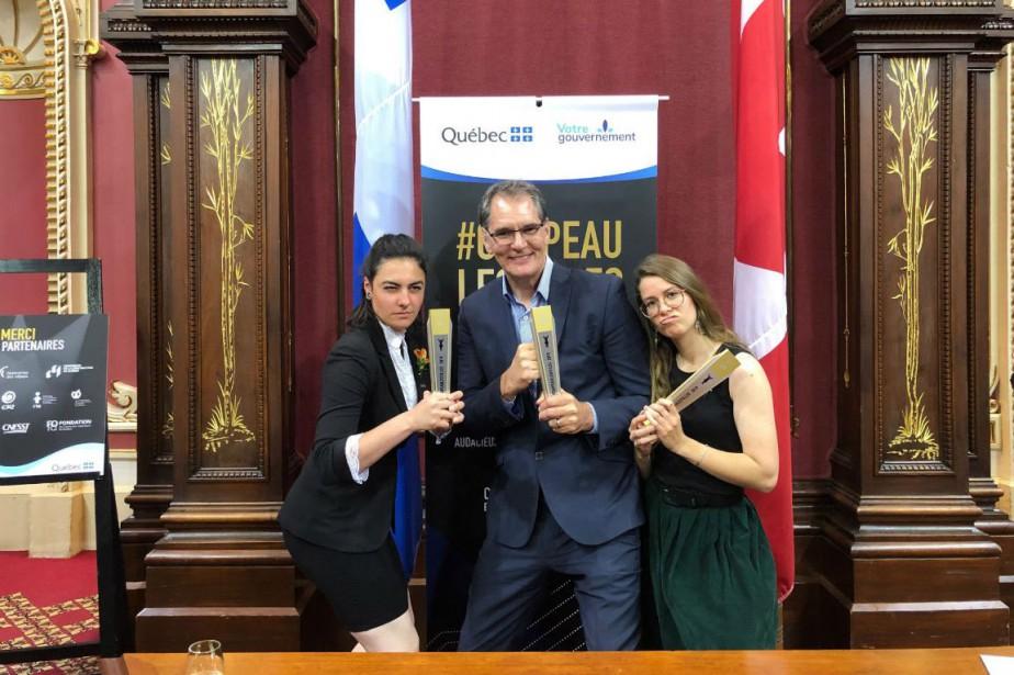 Pierre Roberge, Laurie Breton et Violaine Paquette à... (Photo fournie par l'ENA)