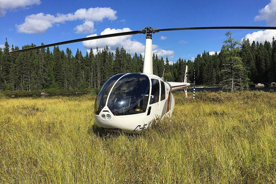 L'hélicoptère de Stéphane Roy est disparu depuis le... (PHOTO TIRÉE DE LA PAGE FACEBOOK DE STÉPHANE ROY)