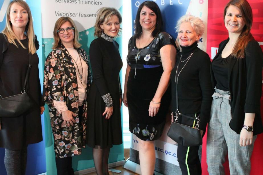 De gauche à droite: Isabelle Lajeunesse, Katia de... (Photo fournie par la Fondation)