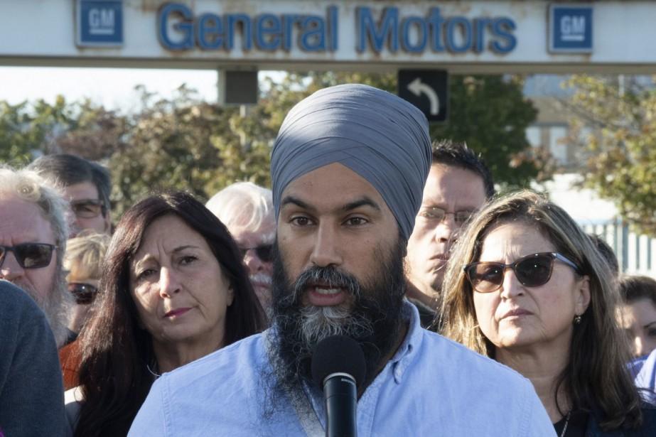 Jagmeet Singh, chef du Nouveau Parti démocratique... (PHOTO ADRIAN WYLD, LA PRESSE CANADIENNE)