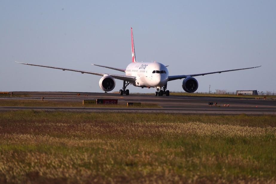 Le vol expérimentalQF7879 a voyagé entre New York... (PHOTO DAVID GRAY, QANTAS VIA AGENCE FRANCE-PRESSE)