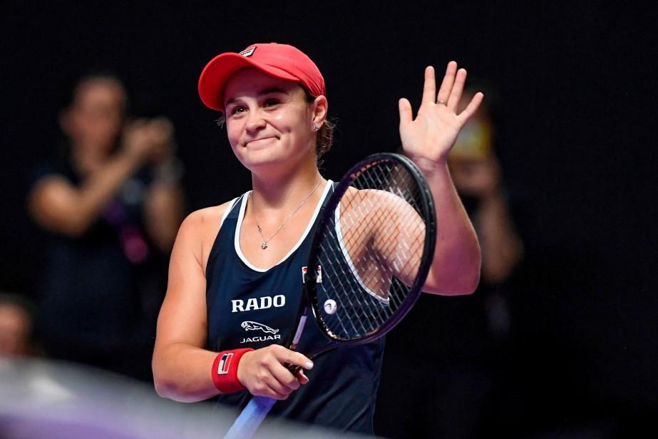 L'Australienne Ashleigh Barty, victorieuse du Masters WTA de... (PHOTO NOEL CELIS, AFP)