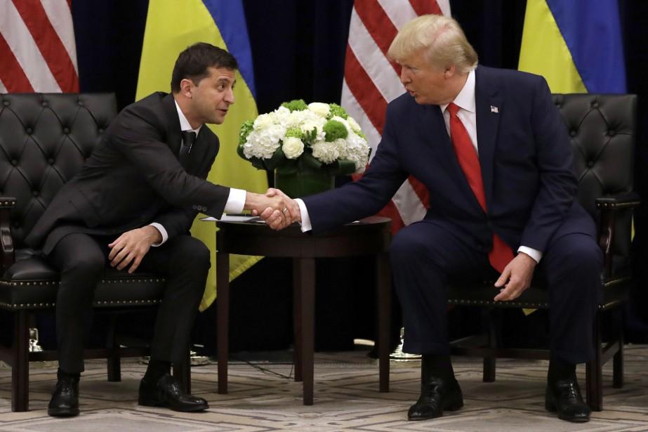 Le président ukrainien Volodymyr Zelensky, qui lors de... (PHOTO EVAN VUCCI, AP)