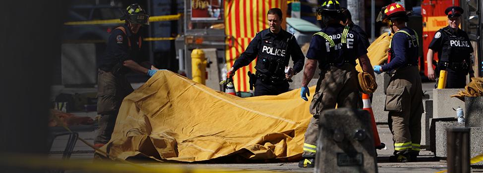 Attaque «délibérée» à Toronto: 10 morts, le suspect estidentifié