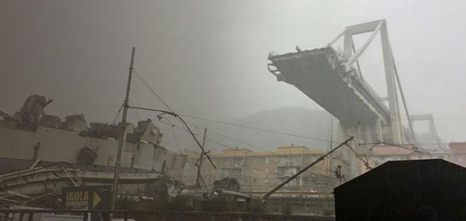 Italie: un pont s'effondre à Gênes, au moins 22 morts