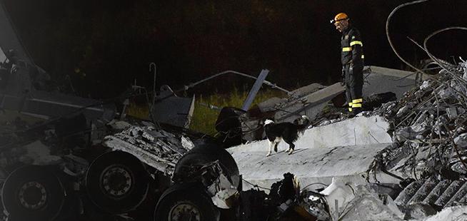 Catastrophe de Gênes: les sauveteurs à l'oeuvre toute la nuit
